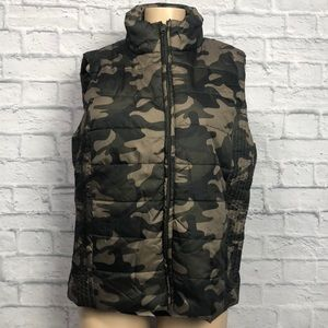 NY & Co Camouflage Puffer Vest - XL